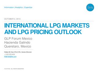 International LPG markets and LPG pricing outlook