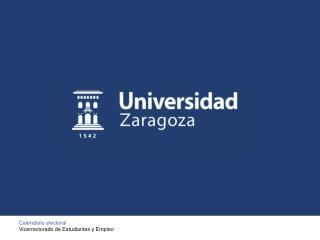 Calendario electoral Vicerrectorado de Estudiantes y Empleo
