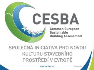 Společná iniciativa pro novou kulturu stavebního prostředí v  evrop ě