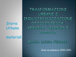 Anno accademico 2010-2011