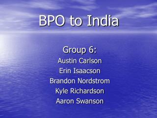 BPO to India