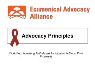 Advocacy Principles