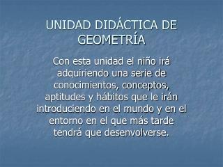 UNIDAD DID CTICA DE GEOMETR A