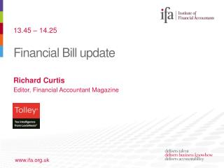 Financial Bill update