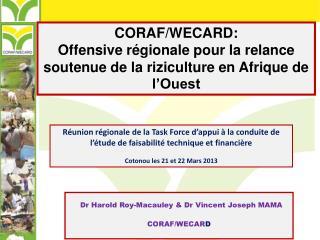 CORAF/WECARD: Offensive régionale pour la relance soutenue de la riziculture en Afrique de l'Ouest
