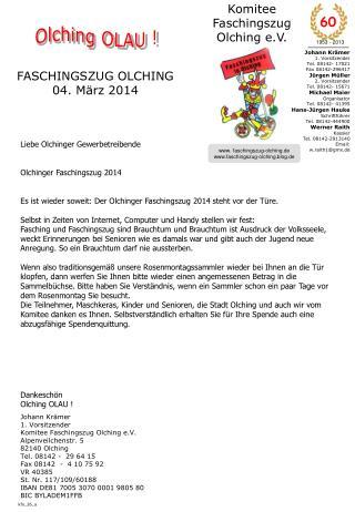 FASCHINGSZUG OLCHING  04. März 2014