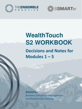 WealthTouch S2 WORKBOOK
