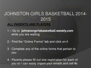 JOHNSTON GIRLS BASKETBALL 2014-2015