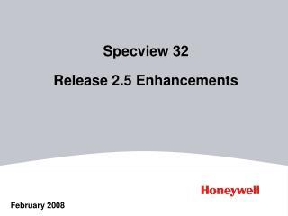 Specview 32    Release 2.5 Enhancements
