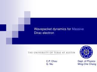 Wavepacket dynamics for Massive Dirac electron