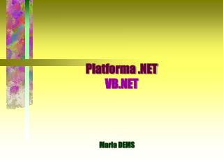 Platforma .NET VB.NET