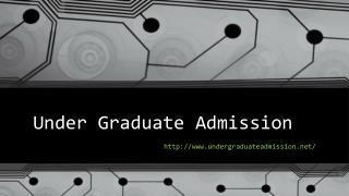 Under Graduate Admission