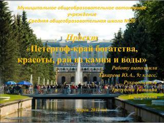 Работу выполнила Токарева Ю.А., 9г класс. Руководитель Трегубова Татьяна  Тимофеевна