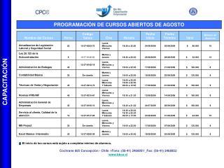 Cochrane 665 Concepción - Chile /-Fono: (56-41) 2468951/_Fax: (56-41) 2468952 bbce.cl