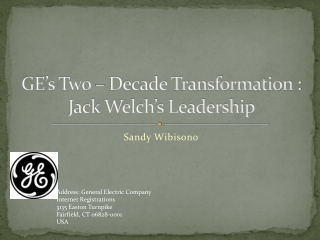 The Story of Jack Welch  General Electric