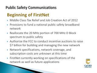 Public Safety Communications
