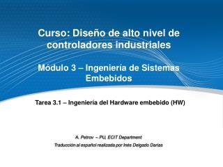 Curso: Diseño de alto nivel de controladores industriales