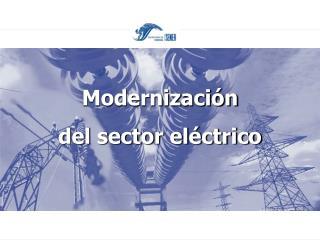 Modernización  del sector eléctrico