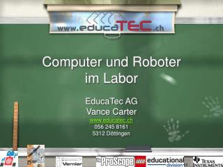 Computer und Roboter  im Labor