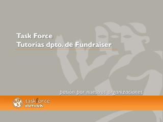 Task Force Tutorías dpto. de Fundraiser