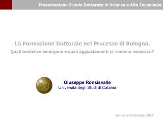 Presentazione Scuola Dottorato in Scienza e Alta Tecnologia