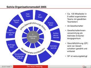 Solvis-Organisationsmodell 2005
