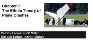 Chapter 7 The Ethnic Theory of Plane Crashes