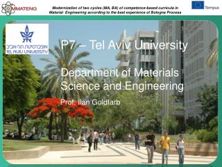 P7 � Tel Aviv University Department of Materials Science and Engineering