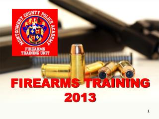 FIREARMS TRAINING  2013