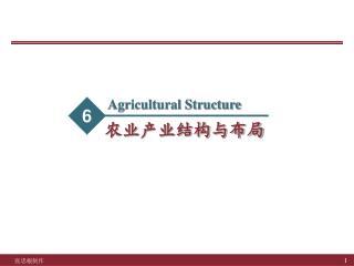 农业产业结构与布局