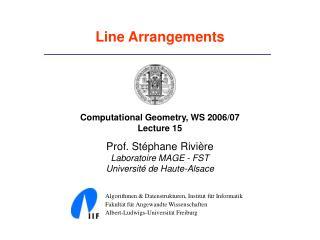 Line Arrangements