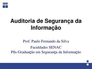 Auditoria de Segurança da Informação