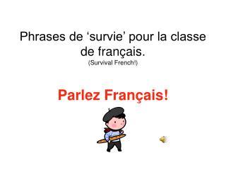 Phrases de 'survie' pour la classe de français. (Survival French!)