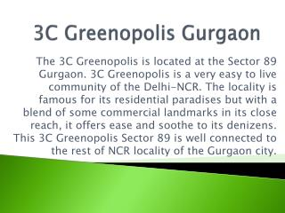 3C Greenopolis Gurgaon 9910007460 Sector 89 Floor Plan