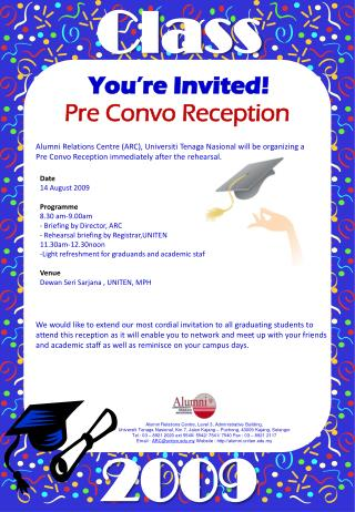 Pre Convo Reception