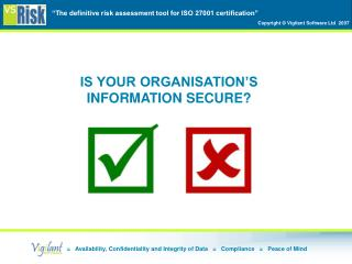 IS YOUR ORGANISATION'S INFORMATION SECURE?