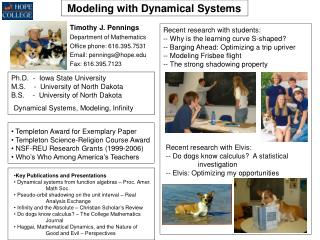 Modeling with Dynamical Systems
