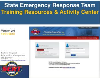State Emergency Response Team Training Resources  Activity Center