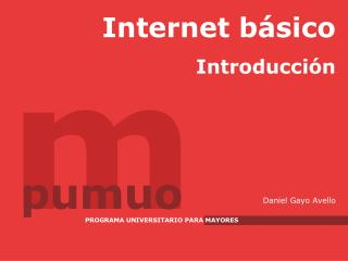 Internet b sico. Introducci n