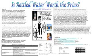 Is Bottled Water Worth the Price?