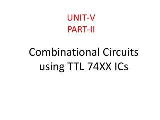 UNIT-V PART-II