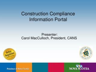 Construction Compliance  Information Portal