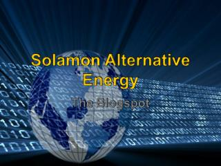 Solamon Alternative Energy - Blogspot