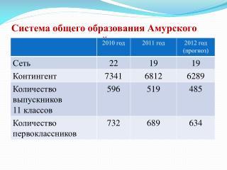 Система общего образования Амурского муниципального района