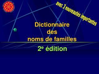Dictionnaire des noms de familles