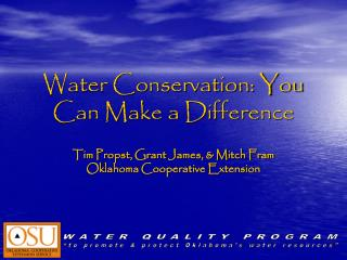 Water Conservation: You Can Make a Difference