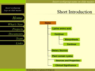 Short Introduction