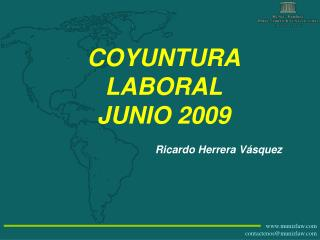 COYUNTURA LABORAL JUNIO 2009
