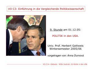 VO C3: Einf�hrung in die Vergleichende Politikwissenschaft