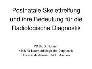 Postnatale Skelettreifung und ihre Bedeutung für die Radiologische Diagnostik